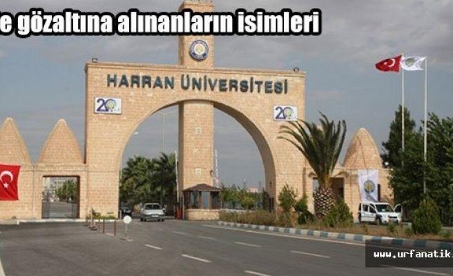 Harran Üniversitesi'nde 21 gözaltı