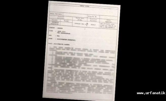 Gizli belge kod ile yollandı