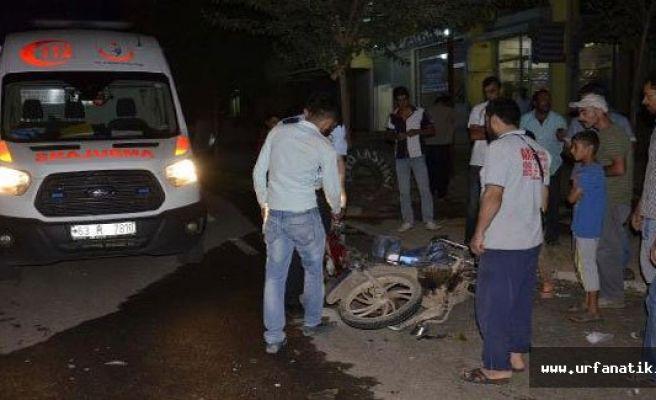 Urfa'da motosiklet ile minibüs çarpıştı