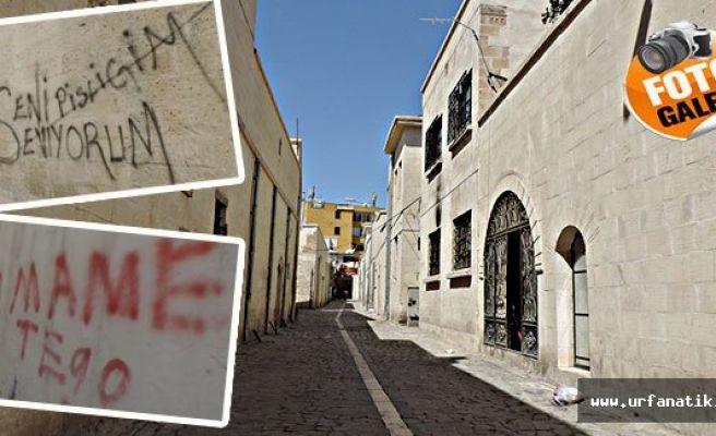 Tarihi sokaklarda utandıran görüntü