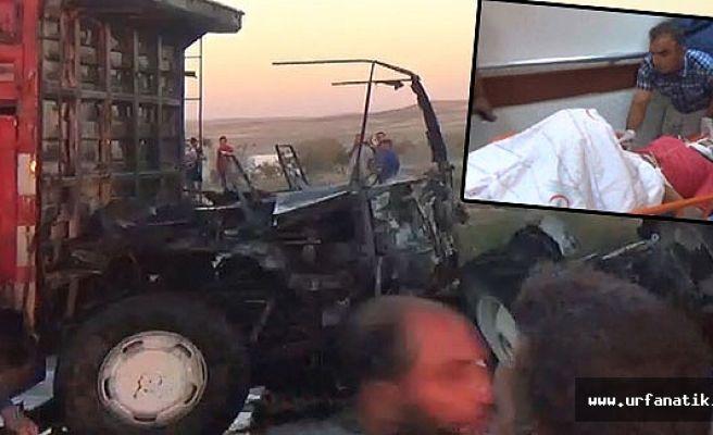 Urfa'da, Tarım işçilerini taşıyan araç kaza yaptı 1 Ölü 25 yaralı