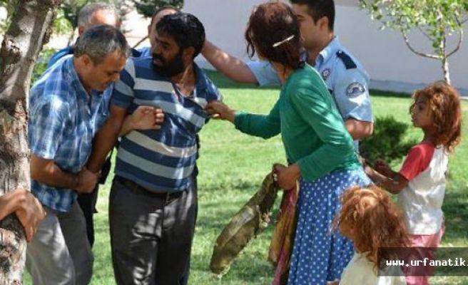 Dilenciler polisi darp etti