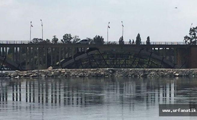 Birecik köprüsünde kemerler kaldırılıyor