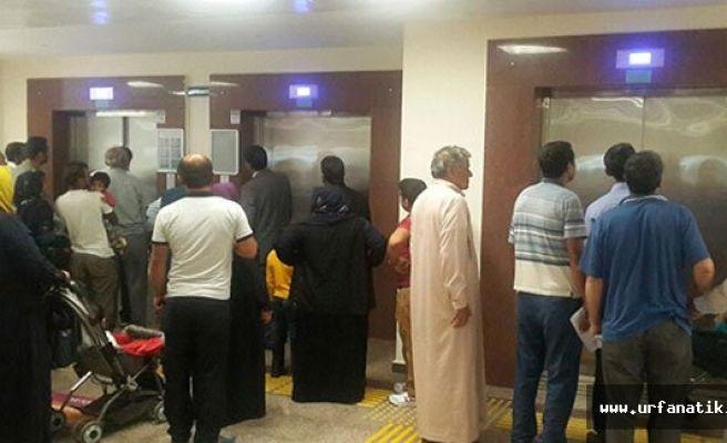 Urfa'da bayram sonrası hastanelere akın