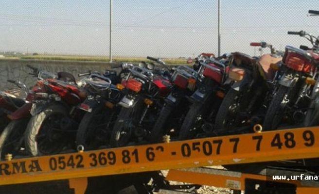 13 çalıntı motosiklet bulundu