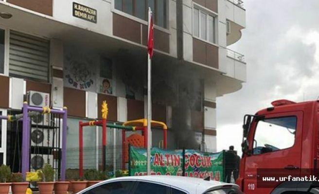 Şanlıurfa'da Çocuk Kreşinde Yangın Çıktı