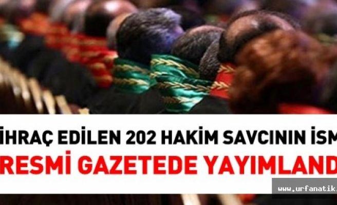İhraç Edilen 202 Hakimin İsmi Resmi Gazetede Yayımlandı