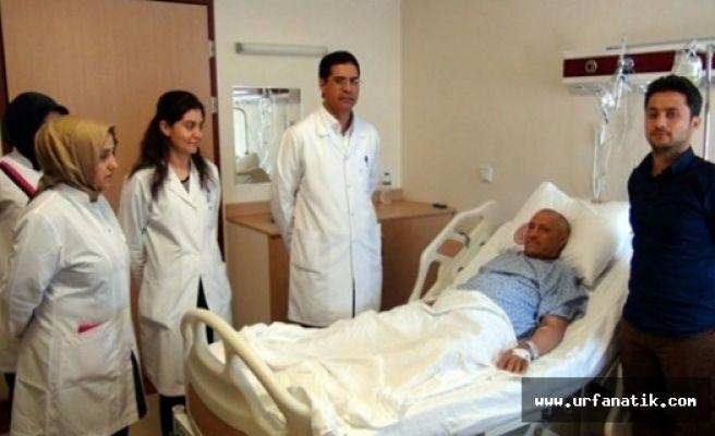 Felçli ve yatalak hasta yeniden sağlığına kavuştu
