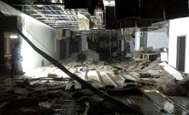 Hastane İnşaatında Asma Tavan Çöktü