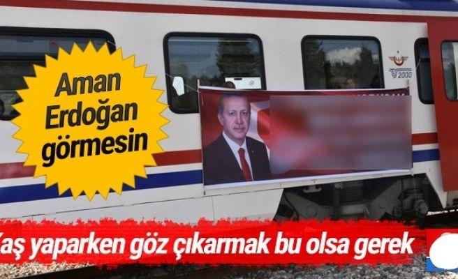 Erdoğan Pankartı Tartışmaya Yol açtı