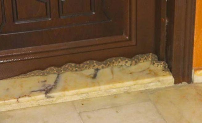 Apartmana Giren Yılanı İtfaiye Ekipleri Yakaladı