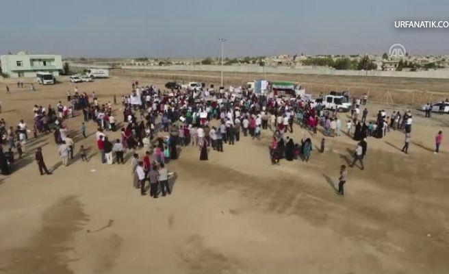 Sınırın Sıfır Noktasında Terör Örgütü PKK/PYD Protesto Edildi!