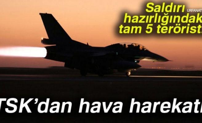 Sınır Karakoluna Saldırı Hazırlığındaki 5 Terörist Havadan Vuruldu!