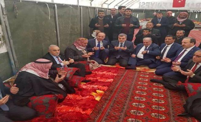 Bakan Fakıbaba Harran şehidine taziye ziyaretinde bulundu