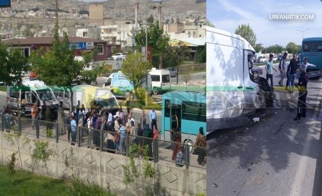 Halk Otobüsü İle Minibüs Çarpıştı 6 Yaralı