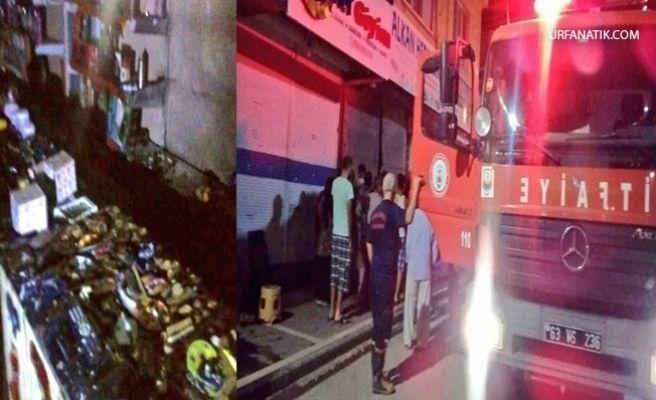 Ceylanpınar'da Tuhafiye Dükkanında Yangın Çıktı
