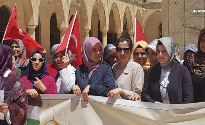 Güven, Kudüs Anneleri ile birlikte basın açıklaması yaptı
