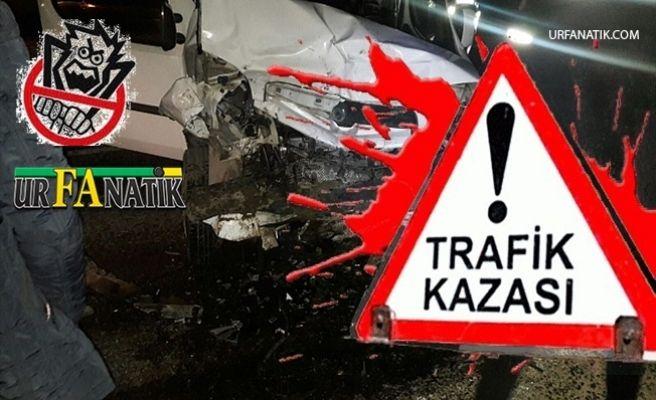 Akçakale Yolunda Trafik Kazası 2 Yaralı