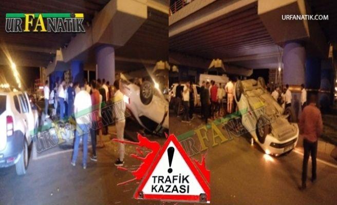 Urfa'da Otomobil Takla Attı 2 Yaralı