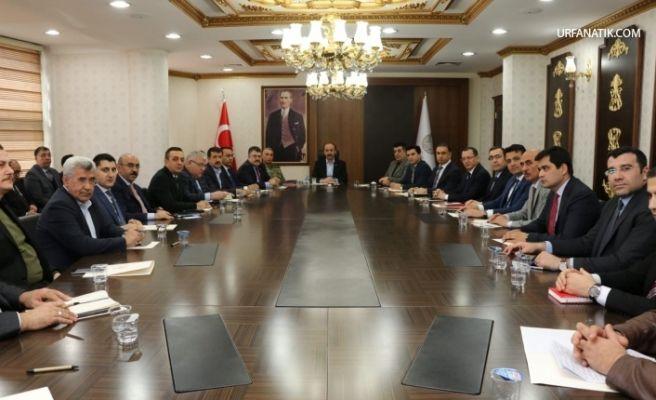 Şanlıurfa'da Cumhurbaşkanın Gelişiyle İlgili Üst Düzey Toplantı