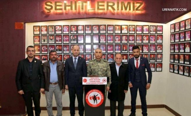 Tuğgeneral Ağbuga'dan Şanlıurfa Şehit Aileleri Derneğine ziyaret