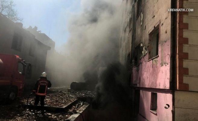 Birecik, Eski Hastane Binasında Yangın
