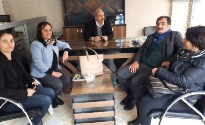 HDP Belediye Eş Başkanlarından Hedef Gazetesine Ziyaret