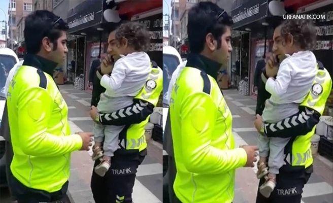 Şanlıurfa'da Polis Memurundan Takdir Toplayan Hareket