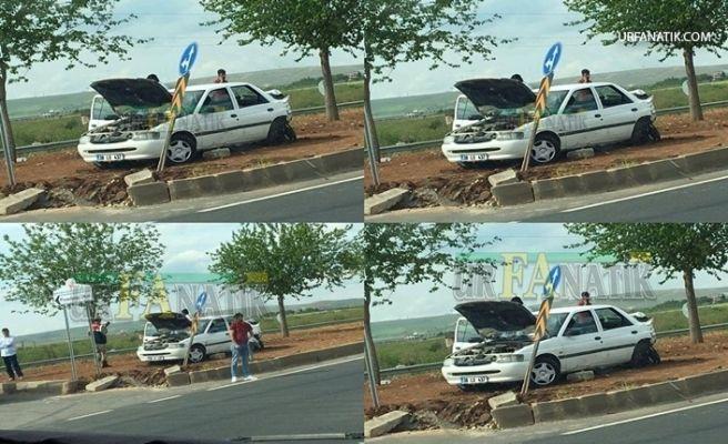 Şanlıurfa'da TIR Otomobile Arkadan Çarptı 4 Yaralı