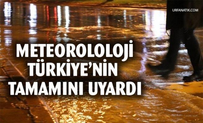 Meteoroloji'den Türkiye'nin Tamamı İçin Sağanak Uyarısı