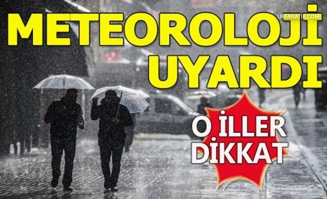 Meteorolojiden Bazı İller İçin Sağanak Yağış Uyarısı