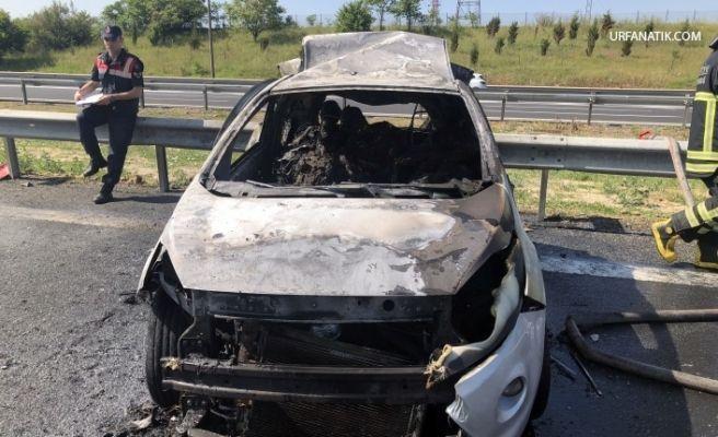 Tırla Otomobil çarpıştı; 5 Kişi Yanarak Can Verdi
