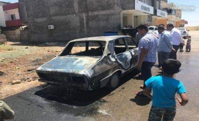 Viranşehir'de Park Halindeki Araç Alev Alav Yandı