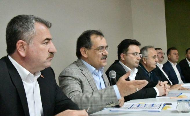 Başkan Demir, kurmaylarıyla Havza'da