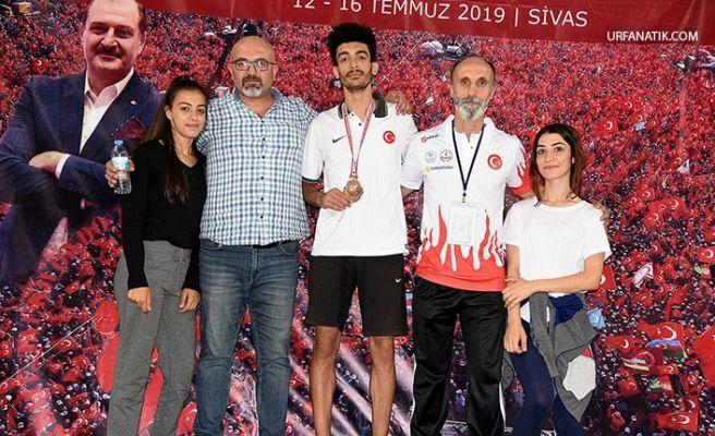 Şanlıurfalı Sporcu Türkiye 3.'sü Oldu