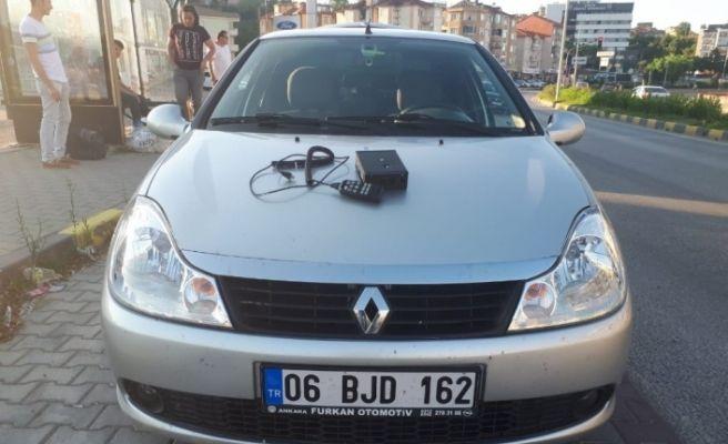 Çakar ve sirenli aracın sürücüsüne 2 bin 20 lira ceza
