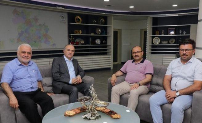 Vali Ustaoğlu Başkan Özlü'yü ziyaret etti