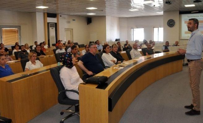 Belediye personeline iş güvenliği eğitimi verildi