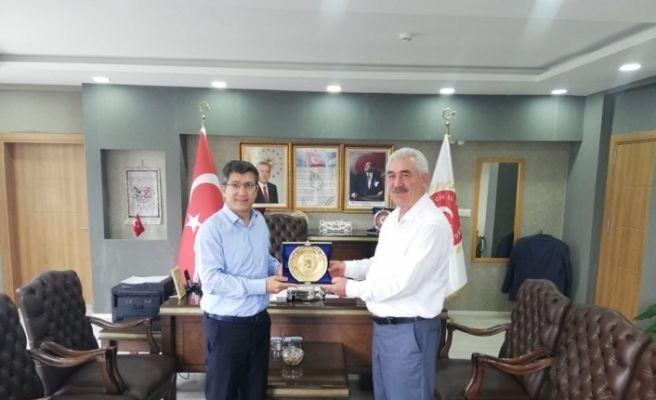 Rektör Taş, İl Genel Meclisi Başkanı Yılmaz ile bir araya geldi