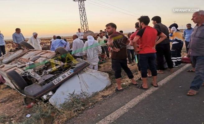 Şanlıurfa'da Otomobil Şarampole Devrildi 9 Yaralı