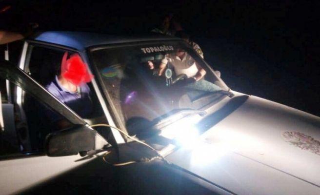 Gece avı yapan şahısların otomobili kamuya geçirildi
