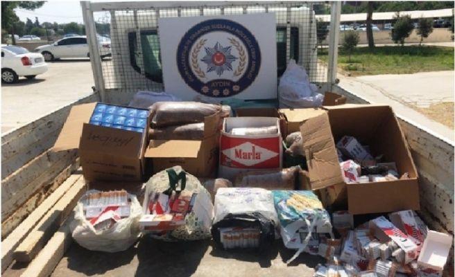 Didim'de kaçak sigara operasyonu