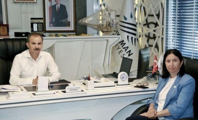 AK Parti Sivas Milletvekili Ekinci, Başkan Kılınç ile bir araya geldi