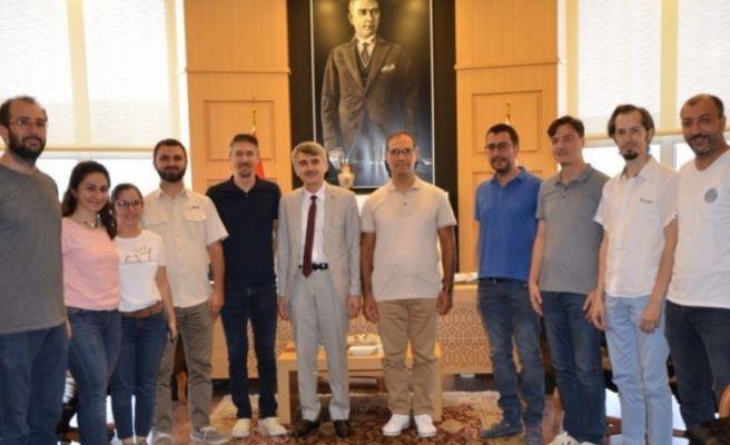 DPÜ'nün akademik ve idari personelinden Rektör Uysal'a ziyaret