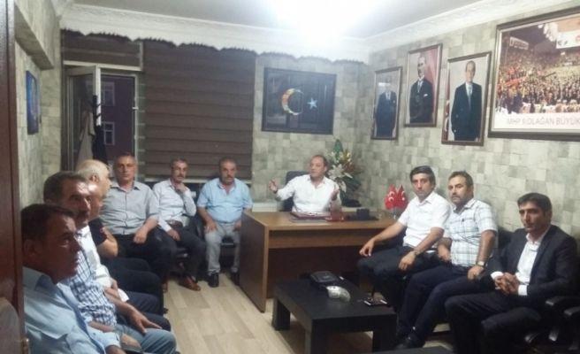 MHP İl Başkanı Karataş, sendika temsilcileri ile bir araya geldi