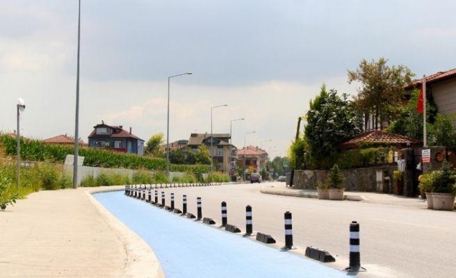 Sakarya'da bisiklet yolları standartlara uygun hale getirildi