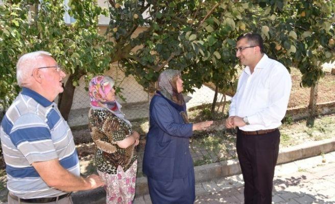 Çan Belediye Başkanı Öz, hemşehrilerini yalnız bırakmıyor