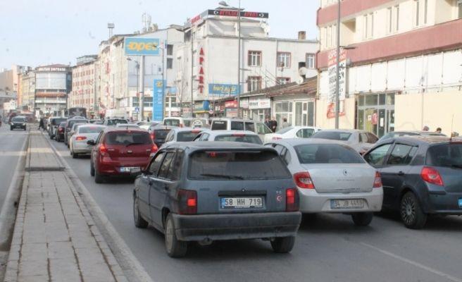 Sivas'ta araç sayısı azaldı