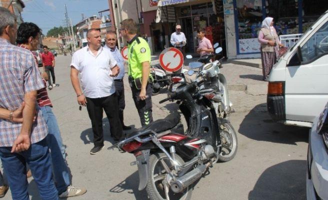 Şuhut'ta motosiklet kazası; 1 yaralı
