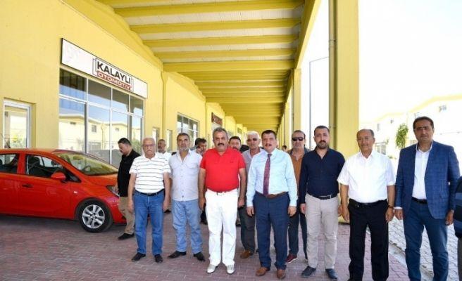 Başkan Gürkan'dan Galericiler Sitesine ziyaret